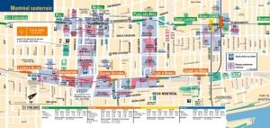 Montreal underground map