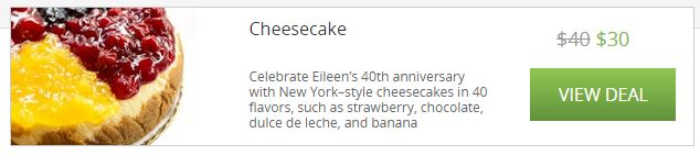 Eileens cheesecake deal