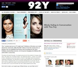 Mindy Kaling book tour 2