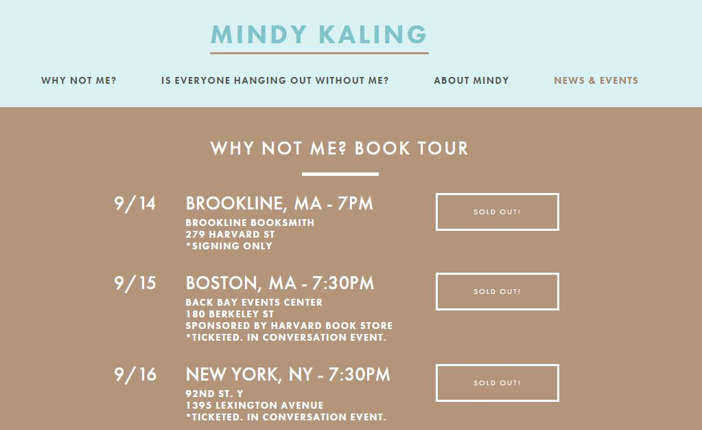 Mindy Kaling book tour