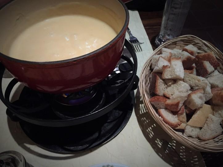 Dinner - cheese fondue