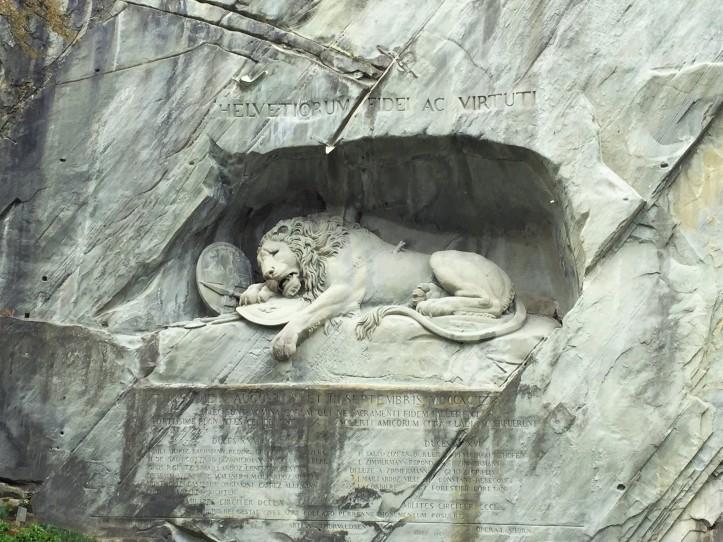 Lion monument closer