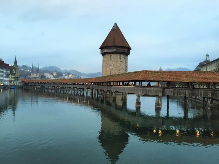 Lucerne bridge day 1 night