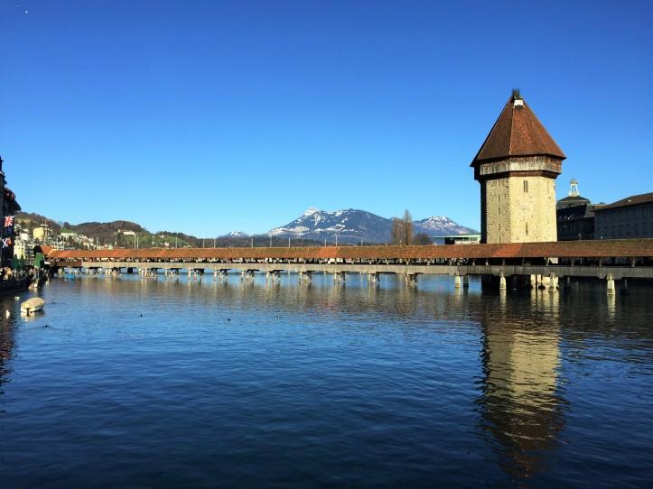 Lucerne bridge day 2 brighter