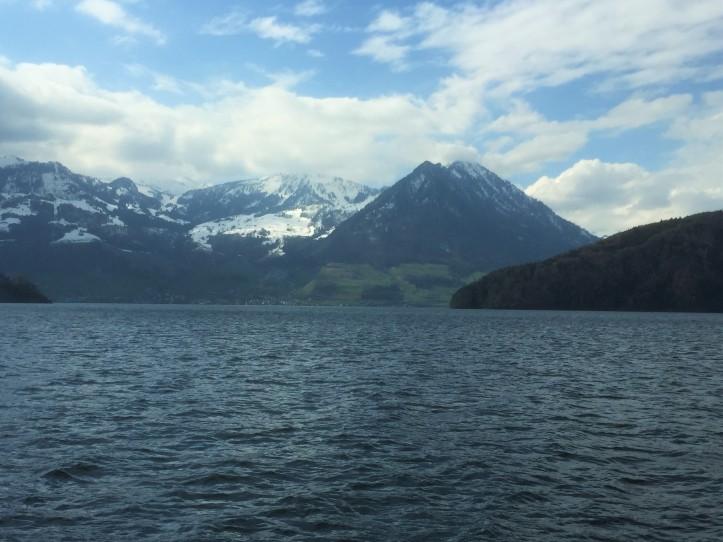 Mt Rigi Lake boat