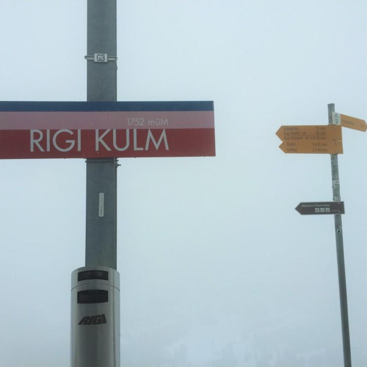 Mt Rigi sign up top