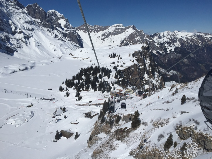 Mt Titlis cable up 1