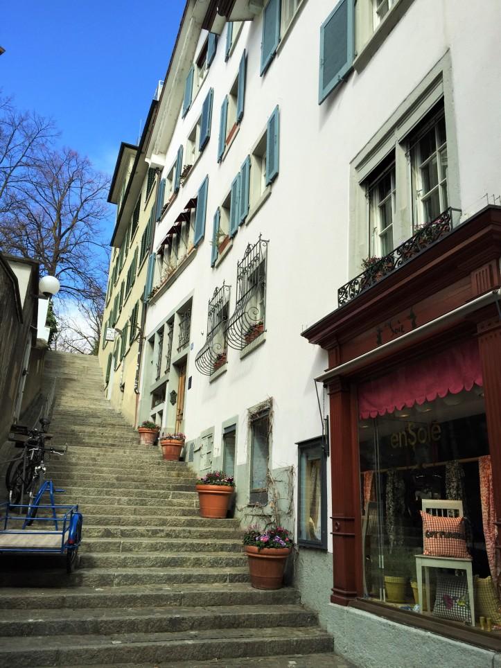 Steps in Zurich old town