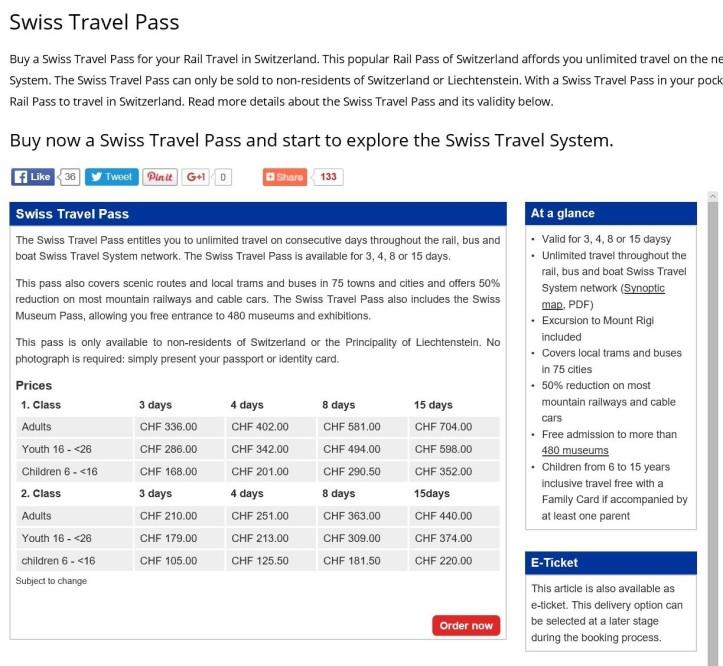 Swiss Travel Pass