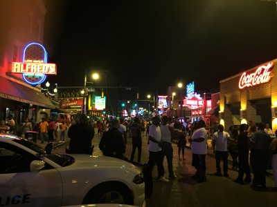 Beale St night 1