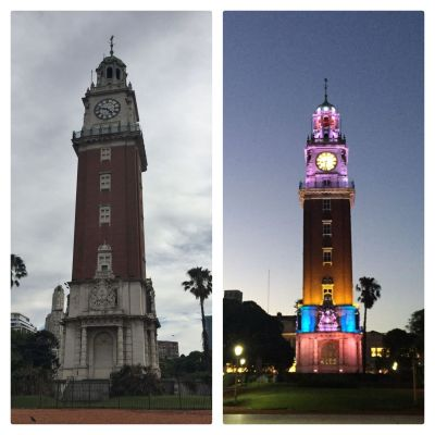 Buenos Aires - Torre Monumental (British Clock Tower) day and night_result