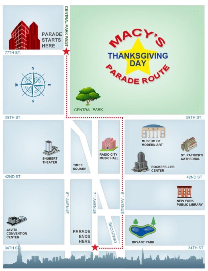 Macys Parade Route