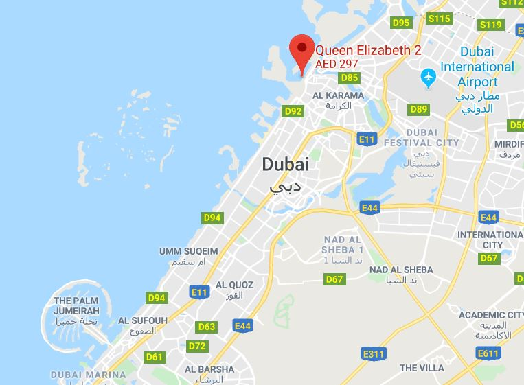 QE2 Dubai Location