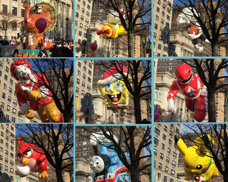 Thanksgiving Parade balloons - Glo Abroad