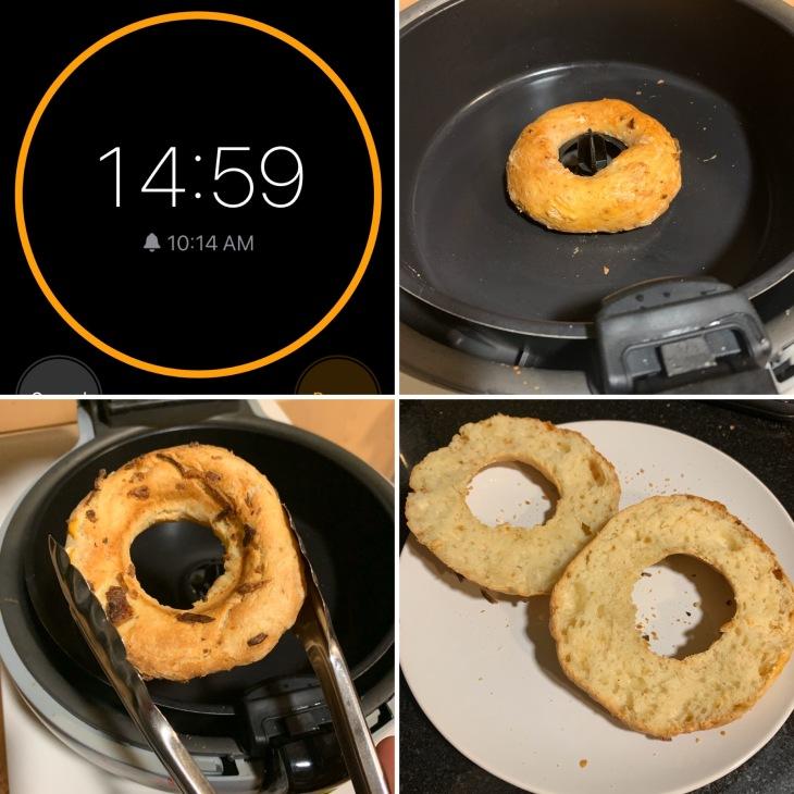 Air fryer bagels 4